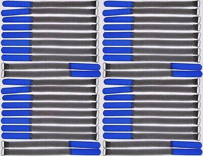 40x Kabelklett m Öse 300 x 25 mm schwarz Kabel Klettband Kabelbinder Klettbänder