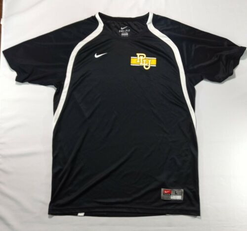 Men's Large Nike PLU Dri-Fit Black Athletic Shirt