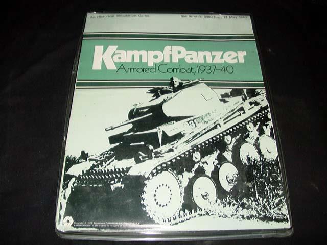 SPI 1973 - KampfPanzer - Armorosso Combat, 1937 - 1940 game (90% Unpunched)