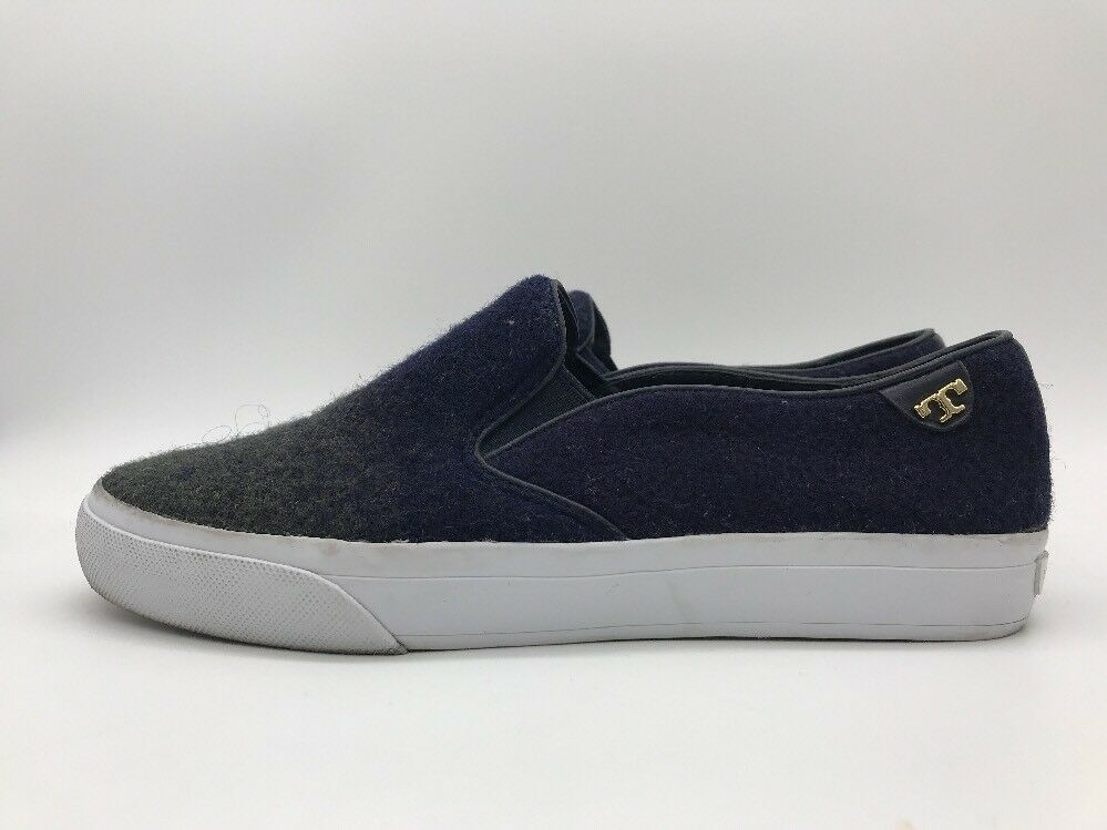 Wouomo Navy blu Tory Burch Slip On Flats Textile Upper 31168119 Dimensione 7.5 M US