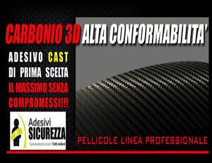 Pellicola adesiva nastro carbonio carbon misura 25/50/200mm wrapping tuning auto