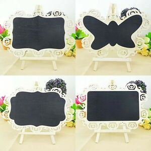 Mini Wooden Chalkboard Blackboard Message Table Number Wedding Party Decor HE