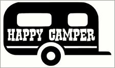Happy Camper Caravan Vinyl Decal Sticker (small)