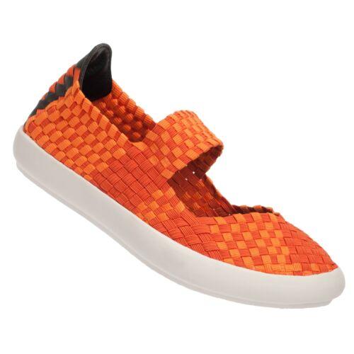 Mesdames Femmes eweez Orange rebond élastique fashion Baskets Casuals Tailles