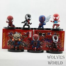 ACTION FIGURE TOY STATUE SPIDER-MAN VENOM SET 7PCS 7 PEZZI MARVEL AVANGERS