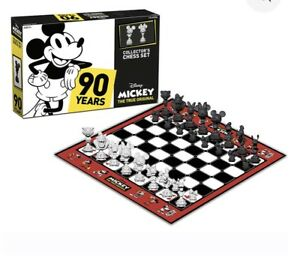 Collector-039-s-Edition-Mickey-Mouse-90th-Anniversary-Chess-Set-True-Original-Gift