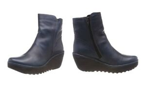 Fly London Womens Wedge Leather Boots