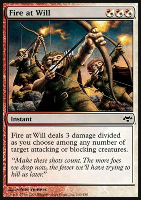 MTG Magic - (C) Eventide - Fire at Will - SP