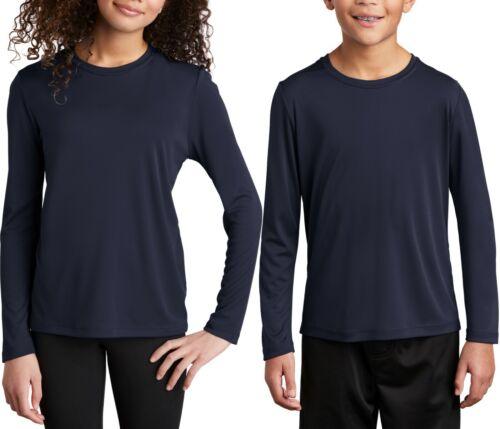 Youth Long Sleeve Fishing T-Shirt UPF 50 UV Moisture Wicking Kids Boy Girl XS-XL