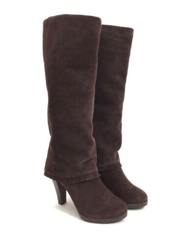 brunes en Bottes détail avec genou hauteur basse des daim franges 6m femme taille pour xTrTIZ