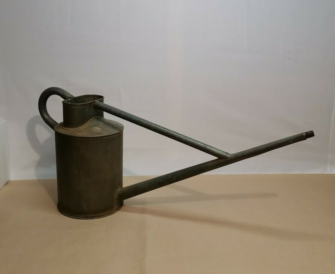 Vintage Haws Long Reach Galvanised Watering Can - 14 Inch In Height - NO ROSE