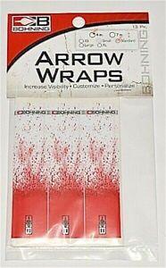 """Bohning Archery 4/"""" WH sang éclaboussures ARROW Wraps 12 PK Standard diamètre 501001"""