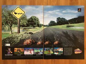 Spyro-Year-of-the-Dragon-PS1-Playstation-1-2000-Vintage-Poster-Ad-Print-Art-Rare