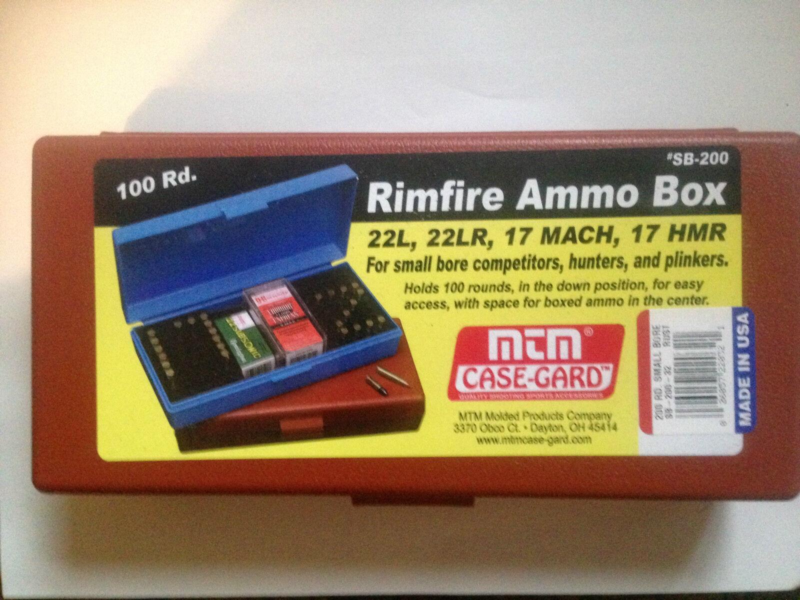 MTM SB200 case-gard RIMFIRE balle Munitions Boîte de balle RIMFIRE 22 .177 17 Hmr - ea9dc7