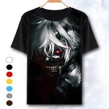 New Tokyo Ghoul Kaneki Anime Manga Movie Japnime T Shirt Black Sizes S to 2XL