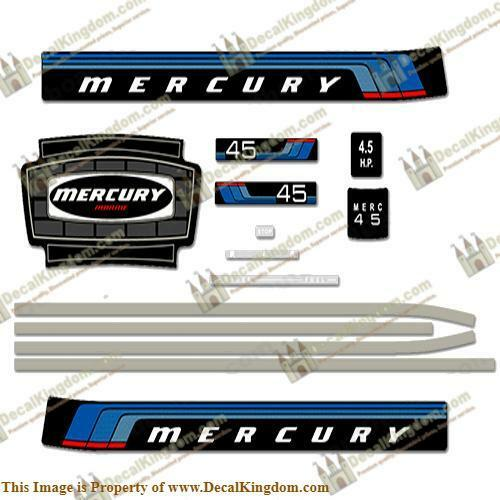 Mercury 1976 Outboard Decal Kit (Multiple Tailles Available) 3M Marine Grade