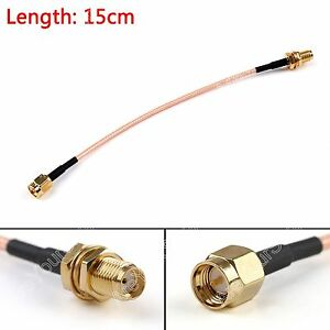 15cm-RG316-Kabel-SMA-Male-Stecker-To-SMA-Female-Buchse-Jumper-Pigtail-6in-FPV