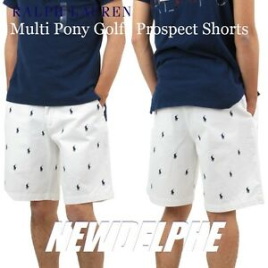 c382a7c4e Details about NWT Polo Ralph Lauren Men's Multi Pony Golf Prospect & Tyler  Shorts 100% Cotton