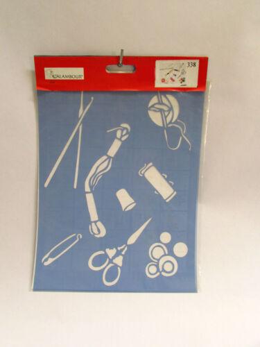 NEEDLEWORK CUCITO CALAMBOUR COLLEZIONE EASY STENCIL A4 21x29,7cm