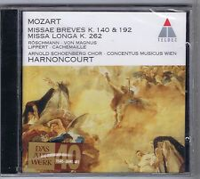 HARNONCOURT CD NEW MOZART MISSAE K.140,192 & 262