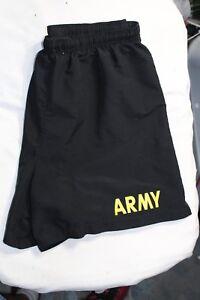 Army-Shorts-Physical-Fitness-Uniform-APFU-Black-Small-PT-Uniform-USGI