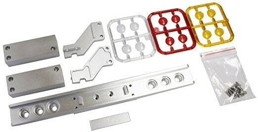 Parts Alu Container Tailight Bumper W Oval Light For TAMIYA 1 14 Semi-Trailer