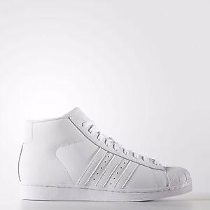 adidas aq5217 pro model all white classic retro shell toe. Black Bedroom Furniture Sets. Home Design Ideas