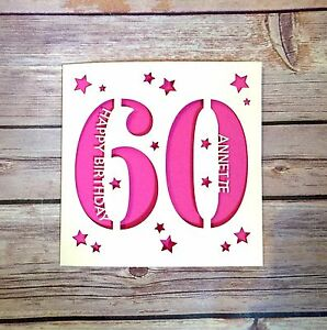 Image Is Loading Personalised 60th Birthday Card Dad Mum Gran Grandad