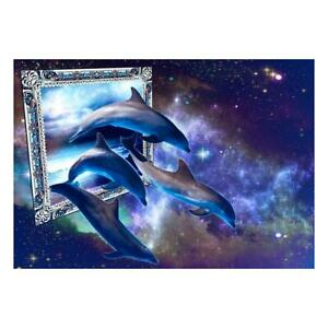 5D-DIY-Full-Drill-Diamond-Painting-Novelty-Dolphin-Cross-Stitch-Embroidery-R1BO