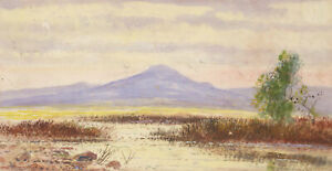 Abraham-Hulk-Junior-1851-1922-Signed-Watercolour-River-Landscape