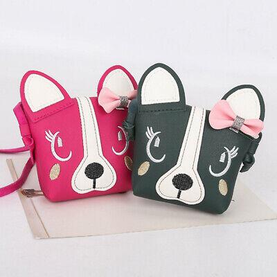 Children Girl Bowknot Baby Purse Messenger Crossbody Dog Shoulder Bag Wallet ##