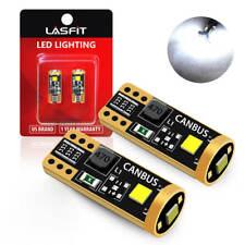 One Pair Lasfit T10 194 168 2825 Led License Plate Light Bulbs Lamps White 6000k