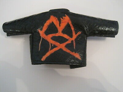 Jon Moxley Mattel Elite Custom Mox Leather Jacket AEW WWE Dean Ambrose