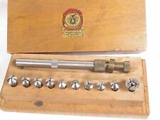 Vintage Watchmakers SWARTCHILD Hand Jeweling Collet Set VG + Box Watch Tool