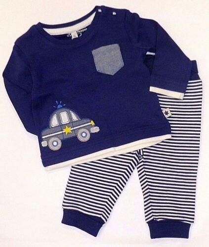 Salt and Pepper Baby Junge Kombination Set  Langarmshirt und Hose 56