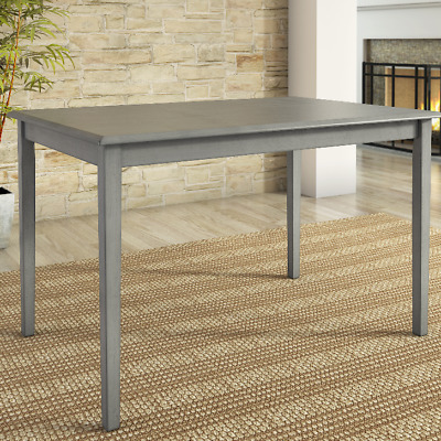 Rustic Dining Table Antique Grey Wood Kitchen Rectangle Seats 4 6 Distressed New Ebay