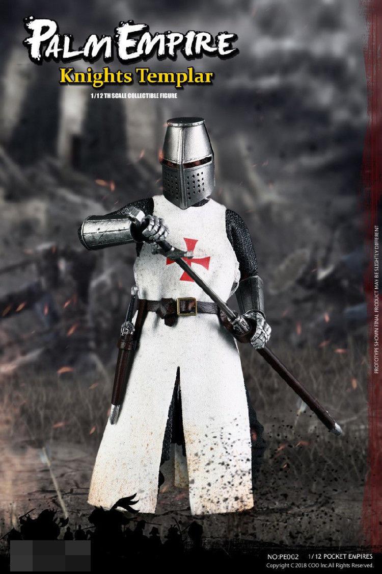 tienda en linea Templar Templar Templar KNIGHT figura modelo Muñeca 1 12th PE002 serie Imperio De Bolsillo Colección F  bienvenido a comprar