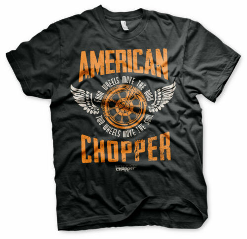 American Chopper Two Wheels Official Orange County Choppers Black Men T-shirt