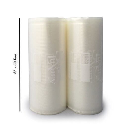 "Vacuum Sealer Bags 8/""x 50/' Food Saver Vacuum Sealer Rolls Commercial Grade 2"