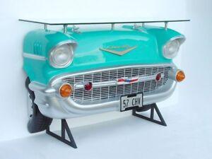 Details zu Autobar CHEVROLET TÜRKIS 183 cm CAR BAR Deko AMERICAN DINER USA  RESTAURANT