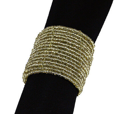 200 GOLD BEADED NAPKIN RINGS, For Joanna