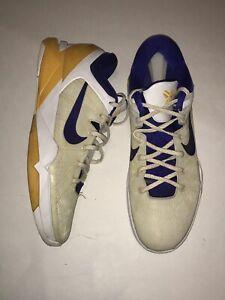 edf41777d172 Nike Zoom Kobe 7 VII Lakers White Yellow Purple System Concord ...