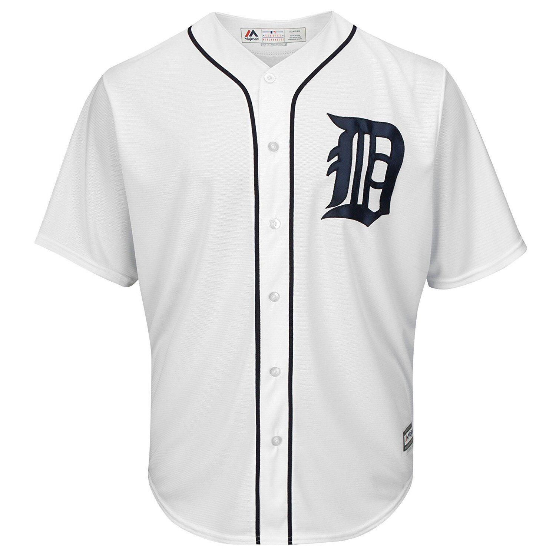 MLB Baseball Trikot Detroit Tigers weiß Home Cool base Majestic Jersey