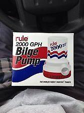 Rule 2000 GPH Bilge Submersible High Capacity 12V Manual Pump