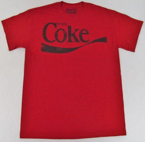 Vintage Enjoy COKE T-shirt Distressed Coca Cola Pop Art Soda Tee Mens New