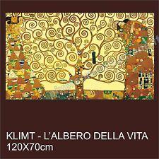 QUADRO MODERNO TELA 120X70 GUSTAV KLIMT L'ALBERO DELLA VITA ARTE