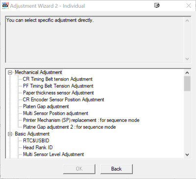 Epson Stylus Pro 9880 Service Program Adjustment Wizard