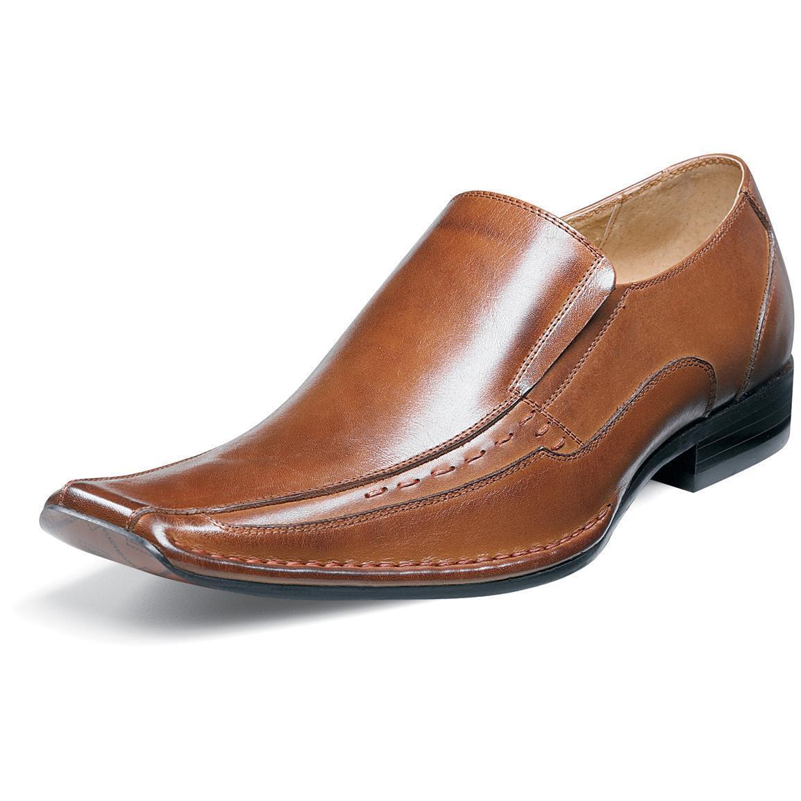 Stacy Adams TEMPLIN 24507 Uomo Cognac 221 Pelle Slip On Dress Oxford Shoes
