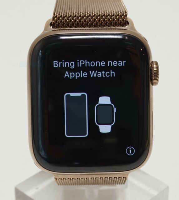 Apple Watch Series 4 Stainless Steel Case 44mm (GPS + Cellular) MTV82LL/A Gold