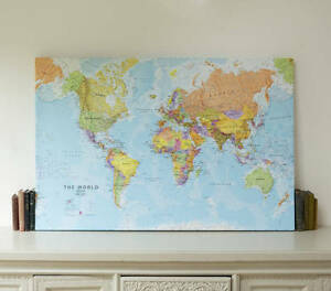 Details about World Map Canvas *FREE UK SHIPPING* Medium, Large & Huge